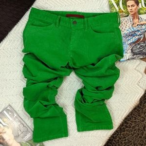 Banana Republic Skinny Ankle Corduroy Bright Green